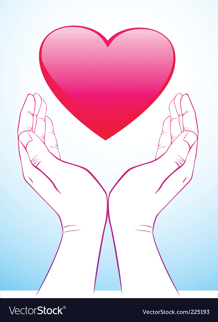 Holding heart vector
