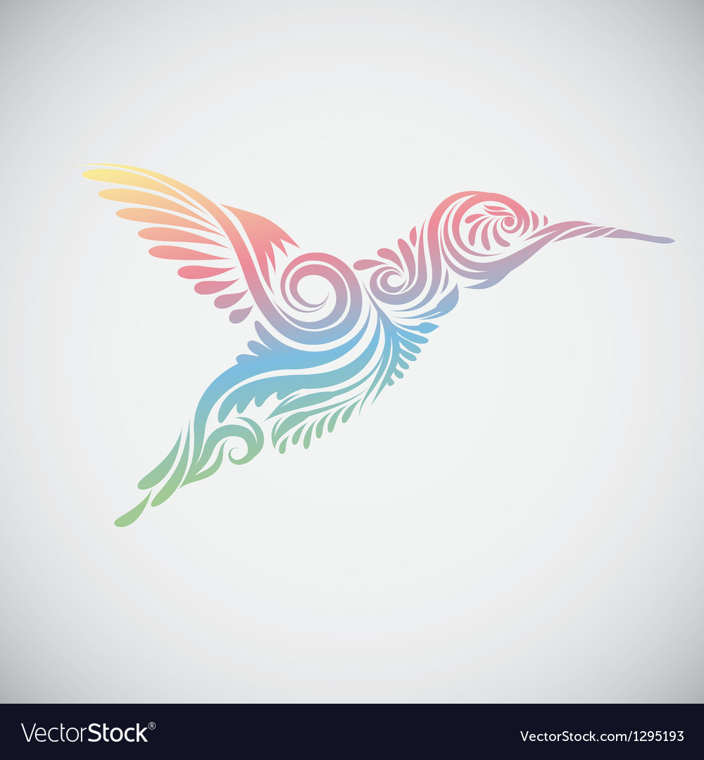 Hummingbird ornamental vector