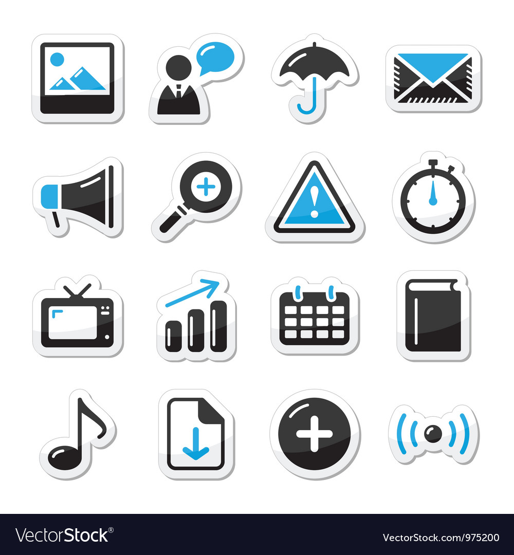 Internet website icons vector