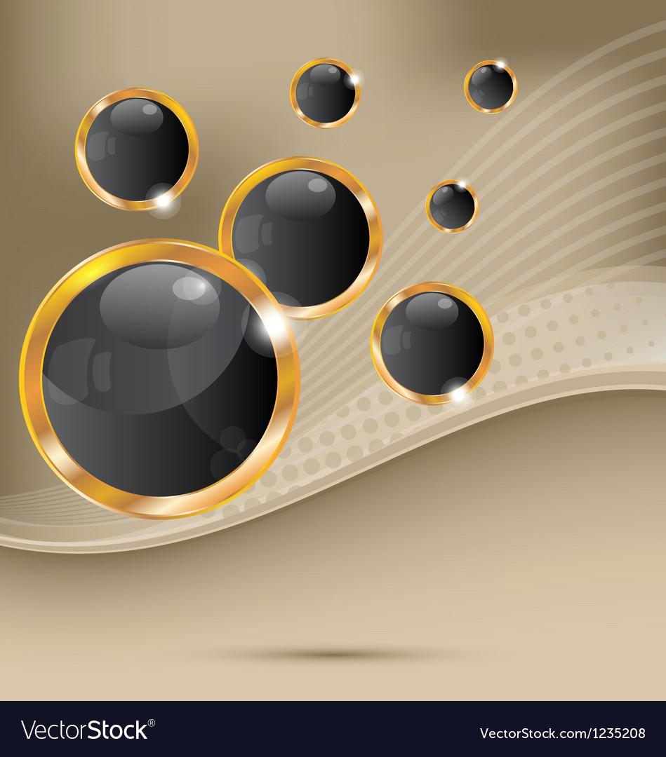 Golden speech bubbles abstract background vector
