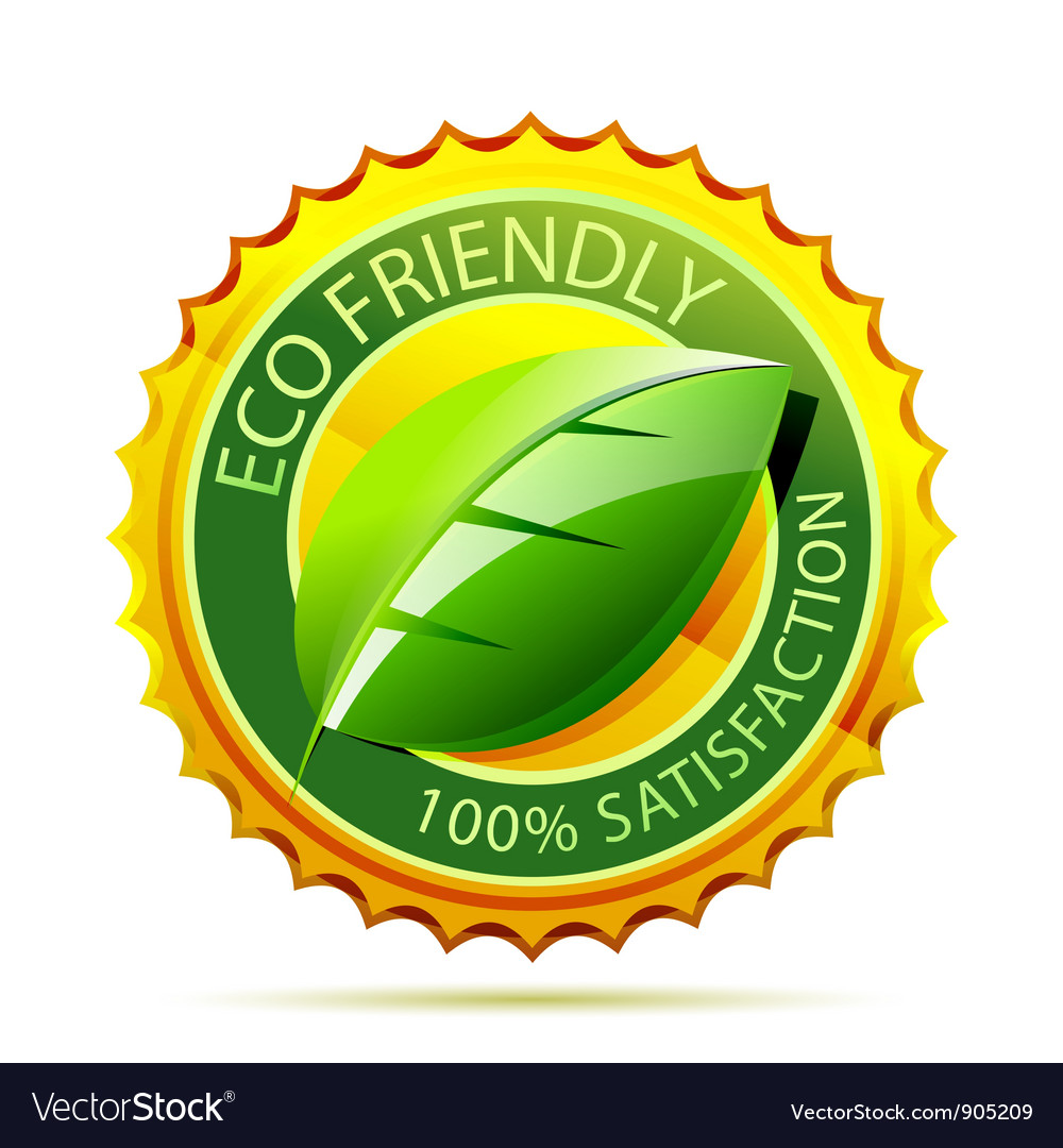 Eco friendly gold icon vector