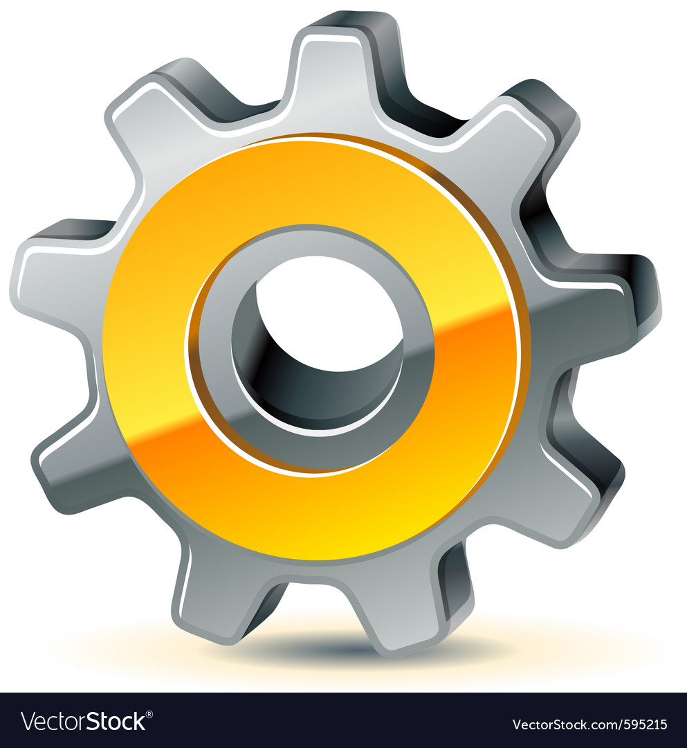 Gear as preferences icon vector
