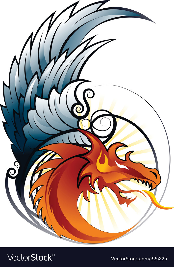 Dragon wings vector