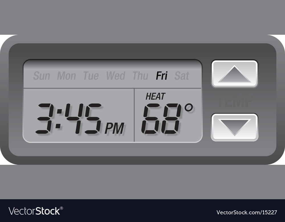 Digital thermostat vector