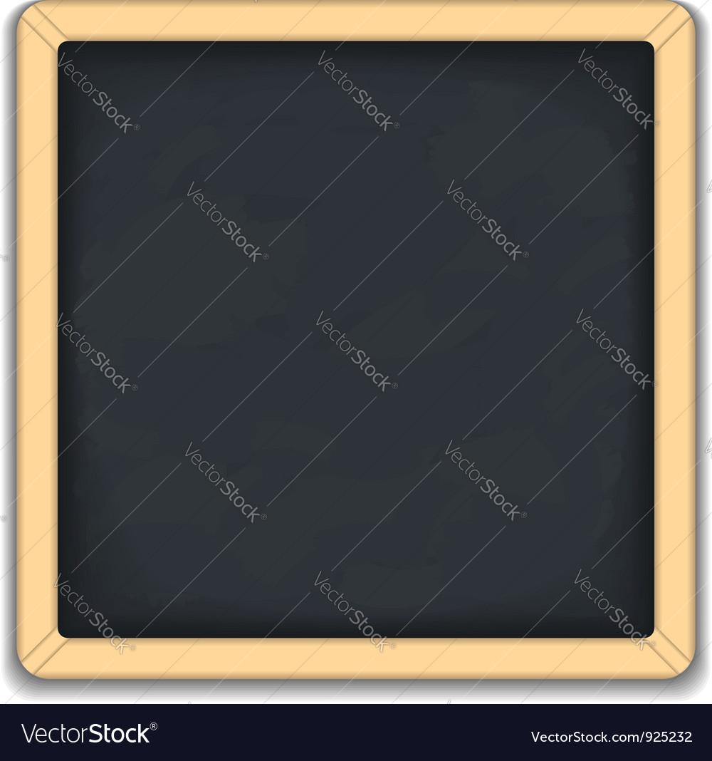 Blackboard square icon vector