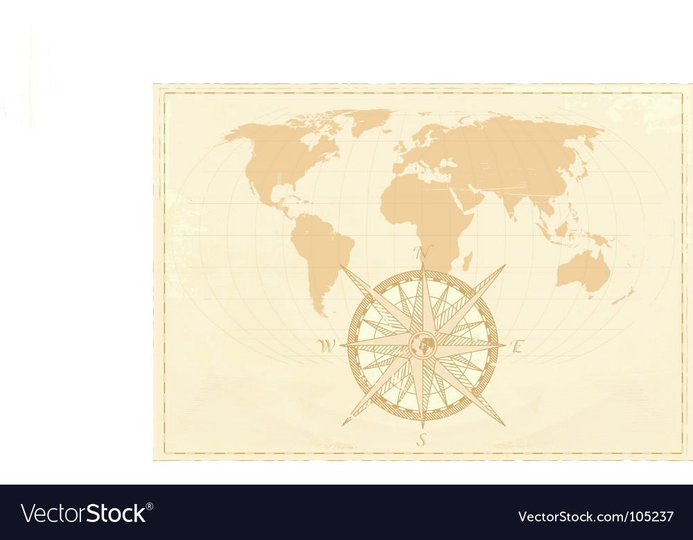 Vintage word map vector