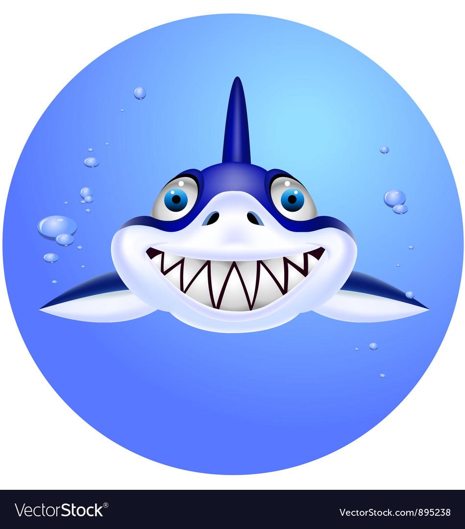 Shark head cartoon vector