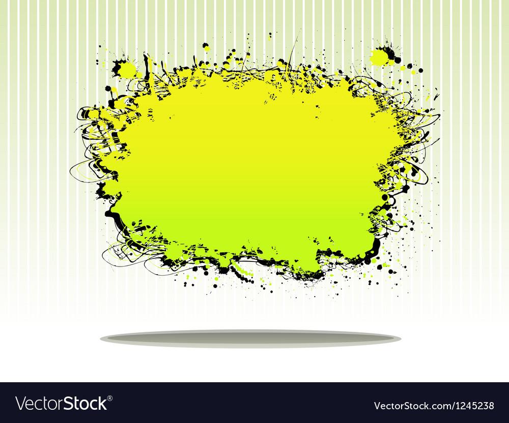 Splash plate vector