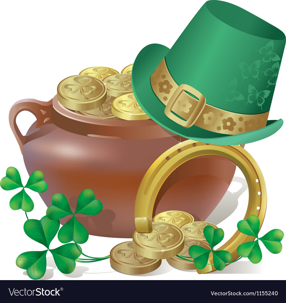 Saint patricks day symbols vector