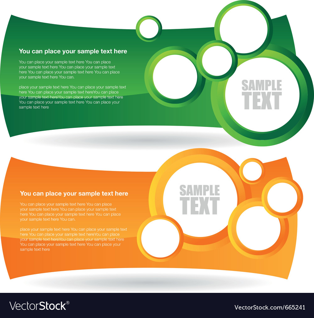 Two circle banner backgrounds vector