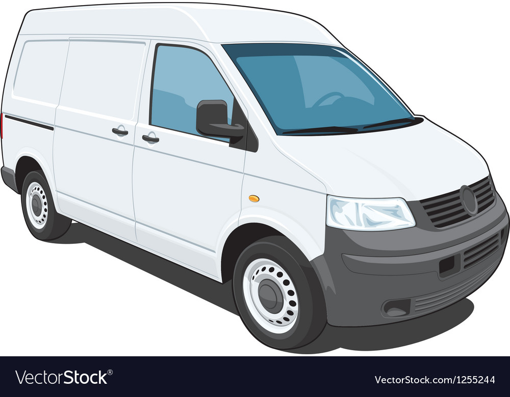 Delivery van vector
