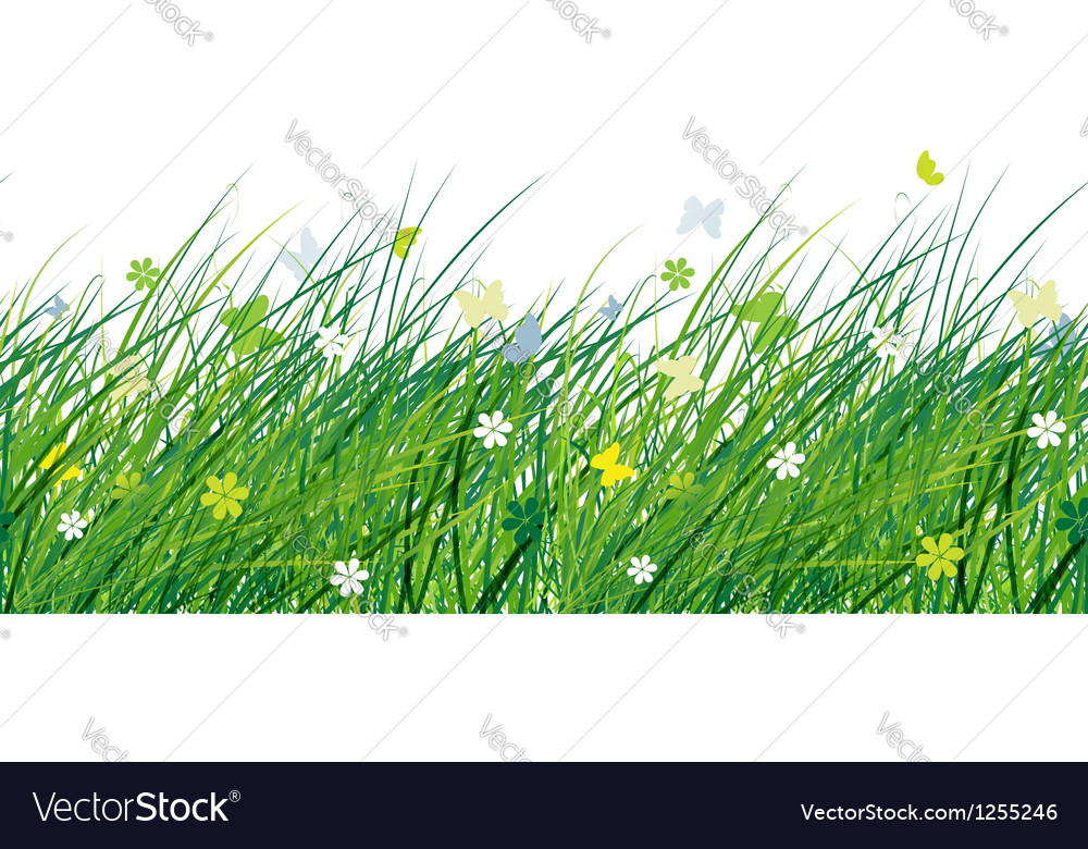 Green meadow seamless pattern for your design vector