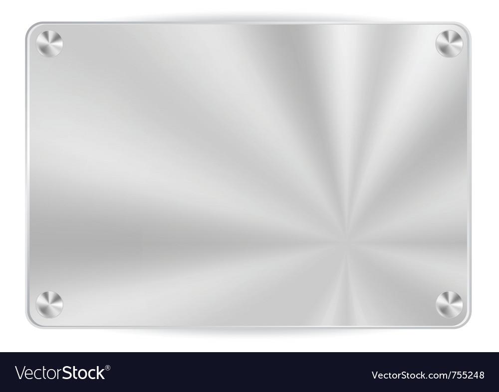 Brush metal frame vector