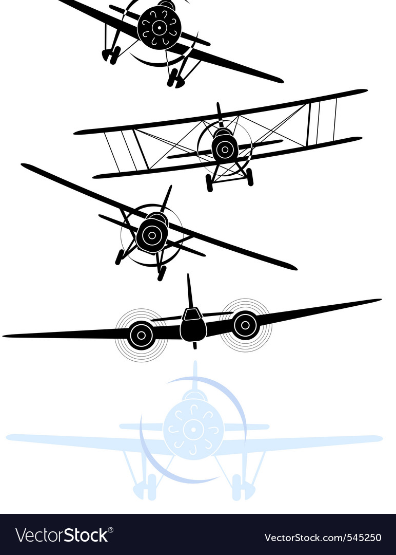 Military planes vector