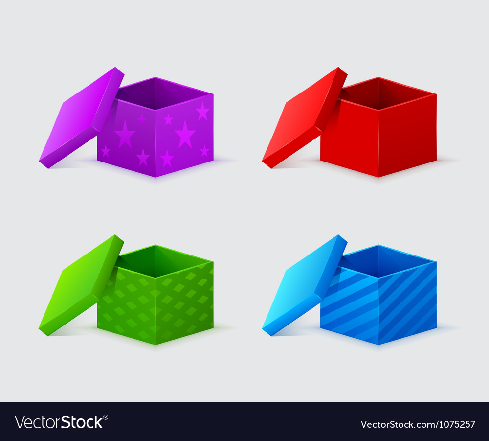 Gift boxes with covers vector