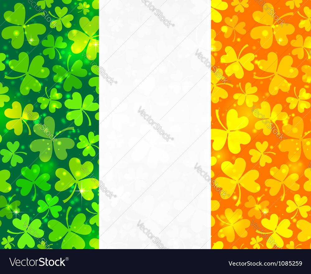 Irish flag background vector