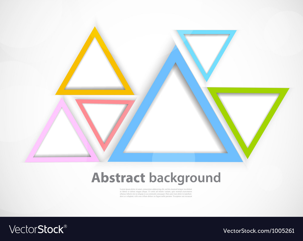 Background with triangles vector