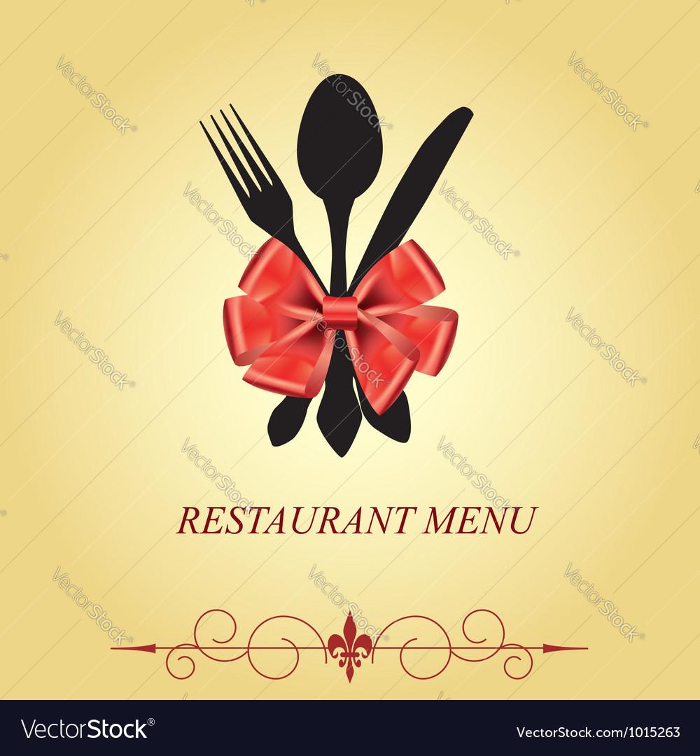 The concept of restaurant menu vector