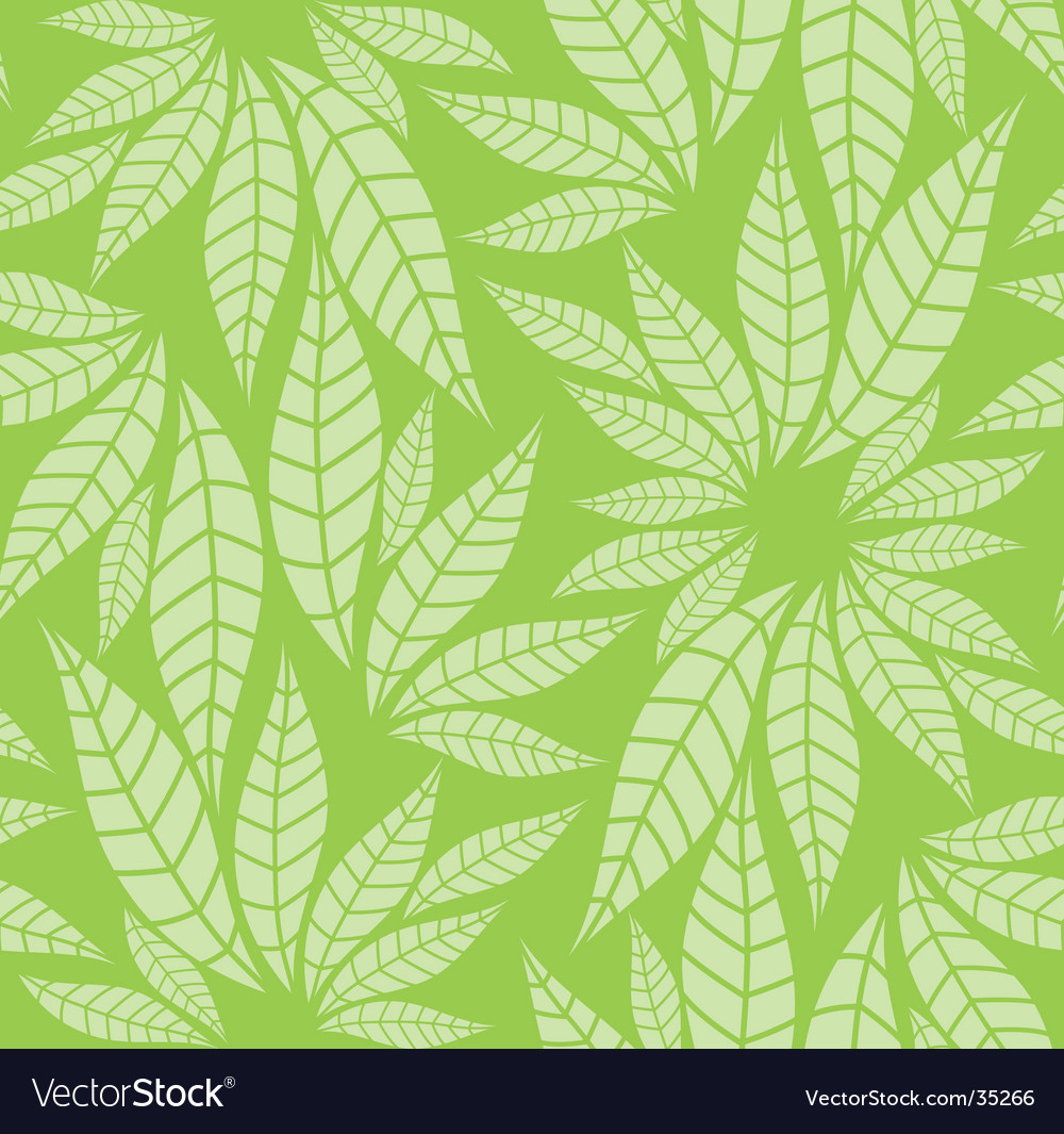 Leaves pattern vector