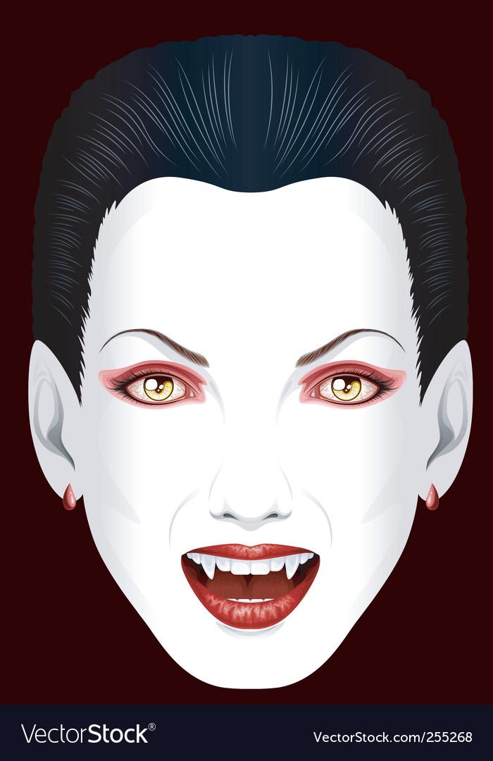 Vampires grin vector