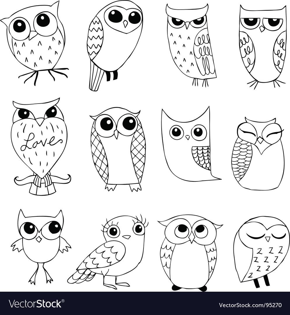 Owlstravaganza vector