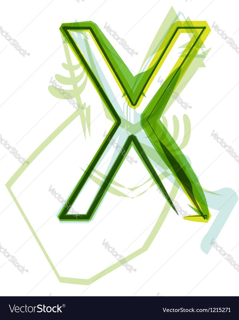 Green letter vector