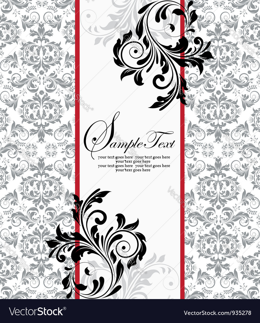 Floral background and frame with sample tex vector