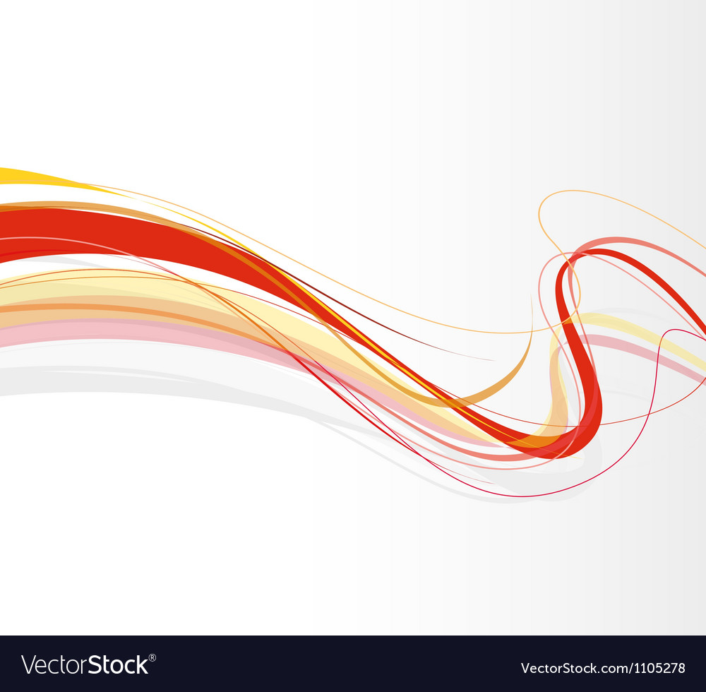 Swirling lines red vector