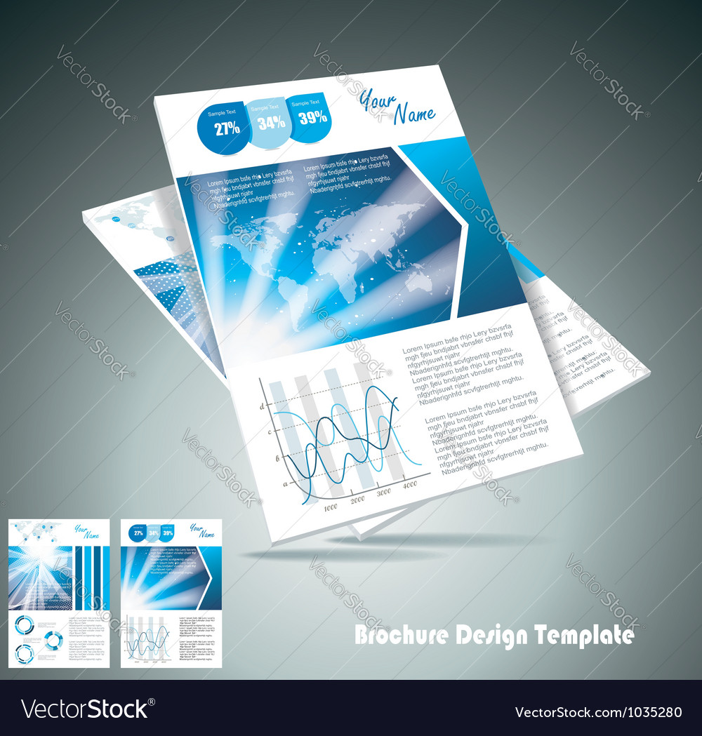Brochure design element vector