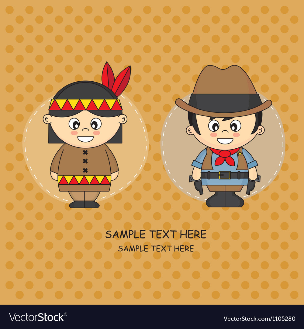 Card costume party vector