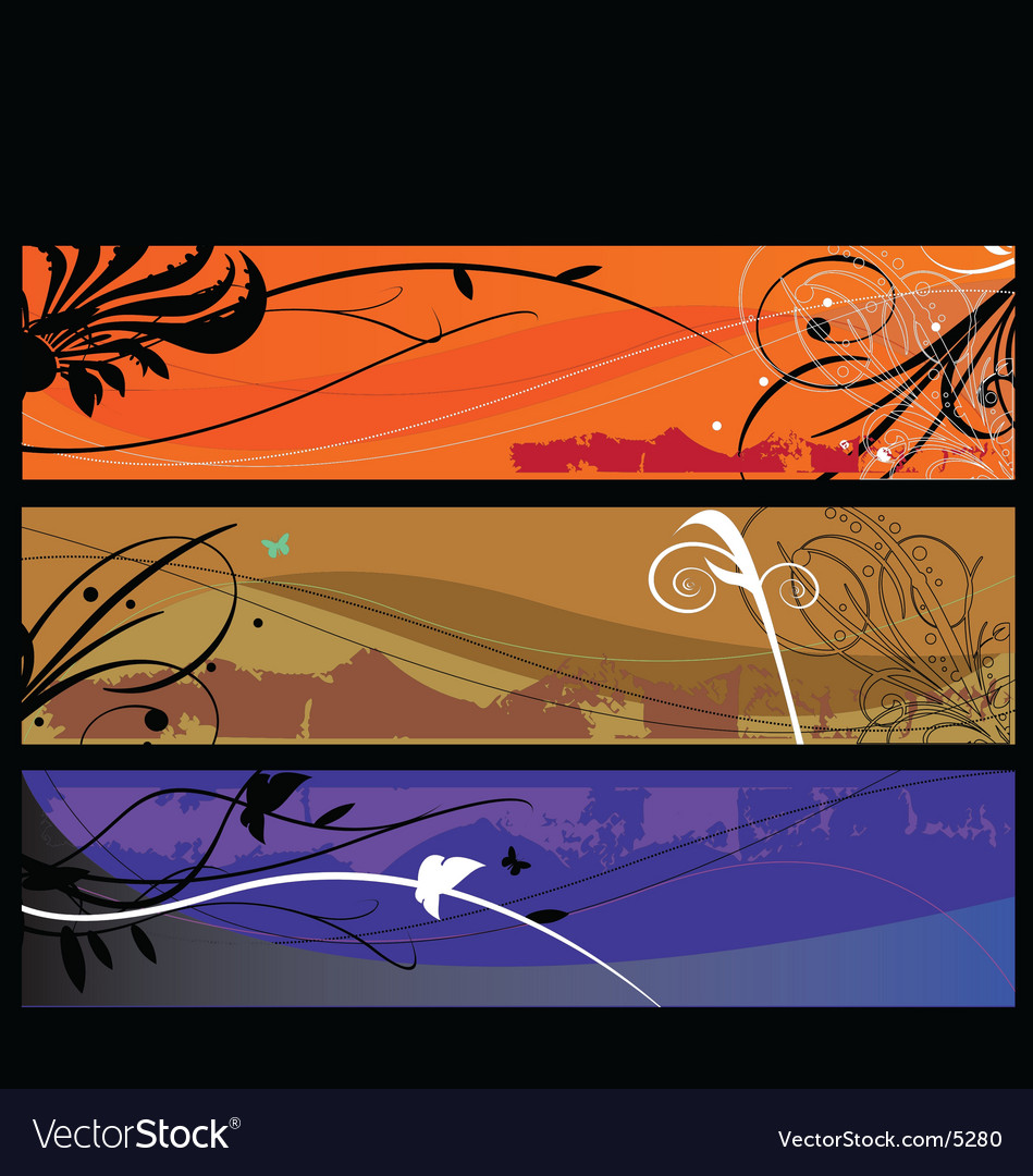 Free landscape layers vector