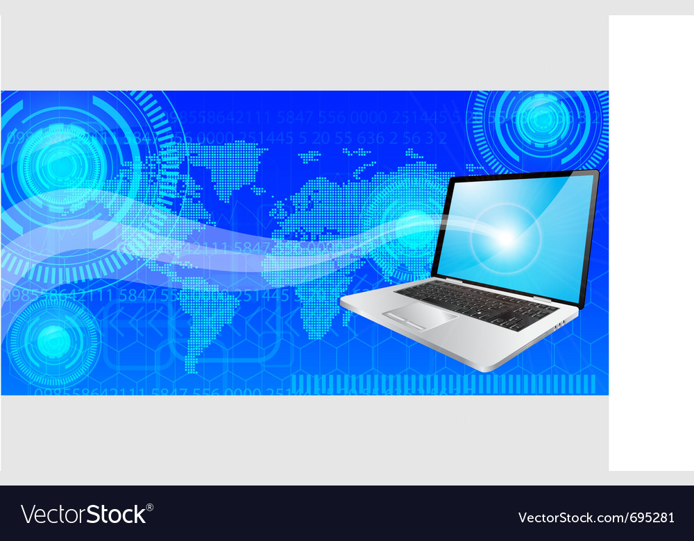 Laptop background vector