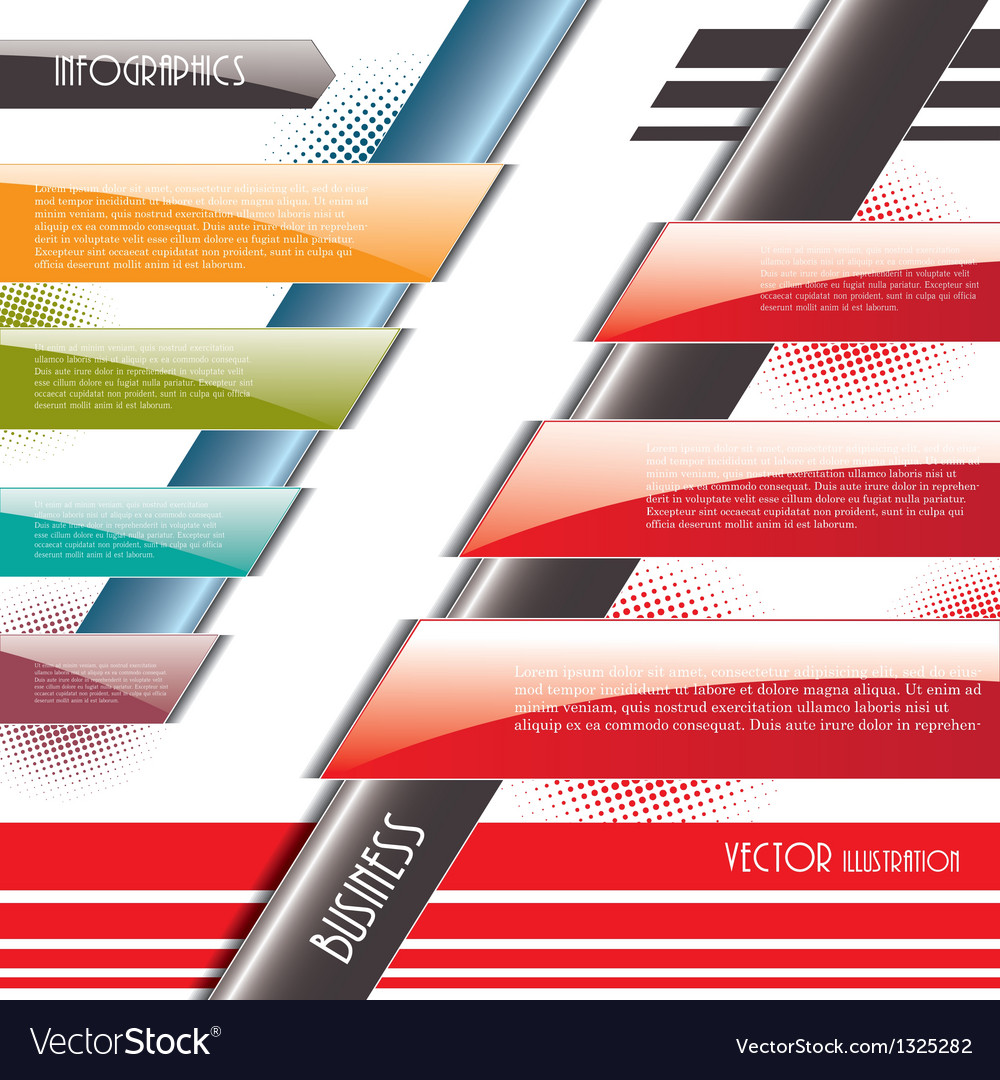 Modern infographics design vector