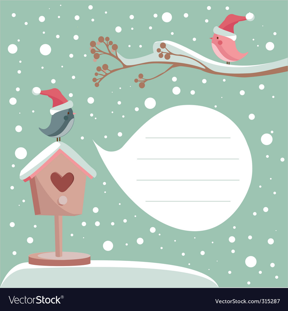 White christmas vector