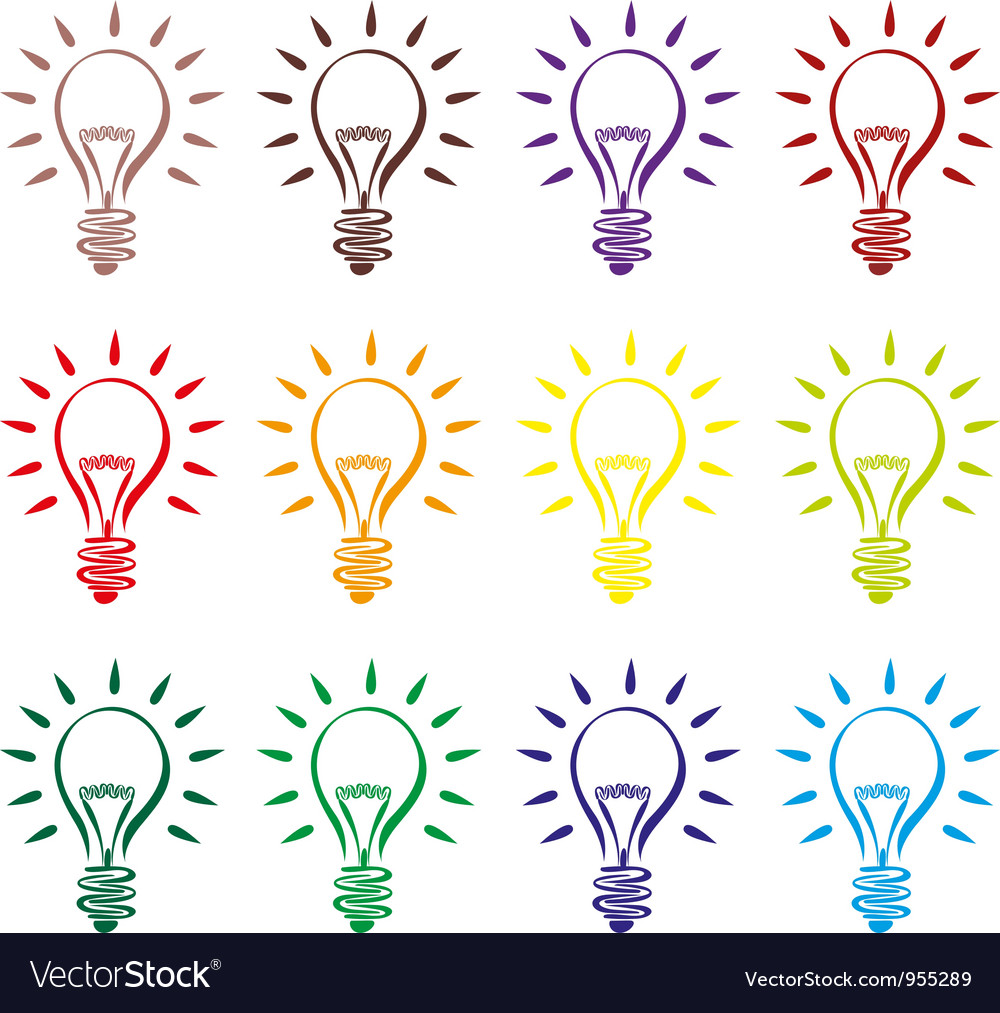Abstract lightbulb vector