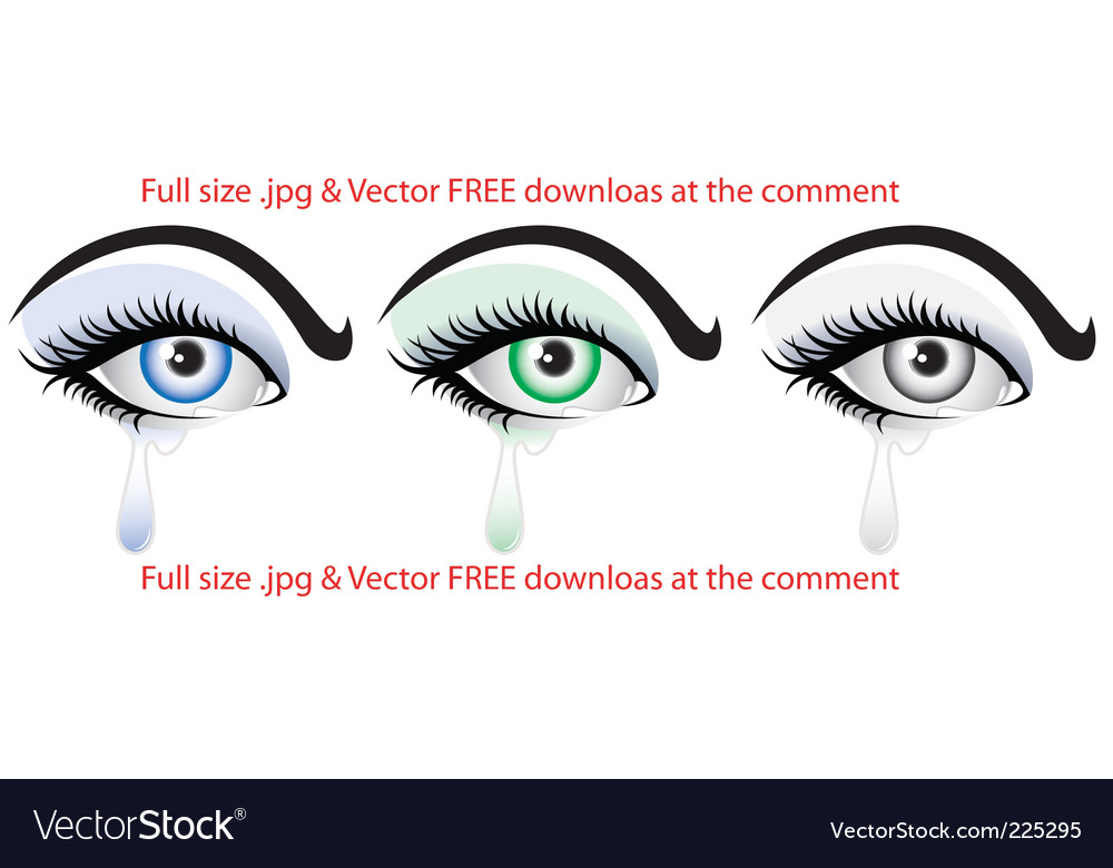 Crying eye  vector
