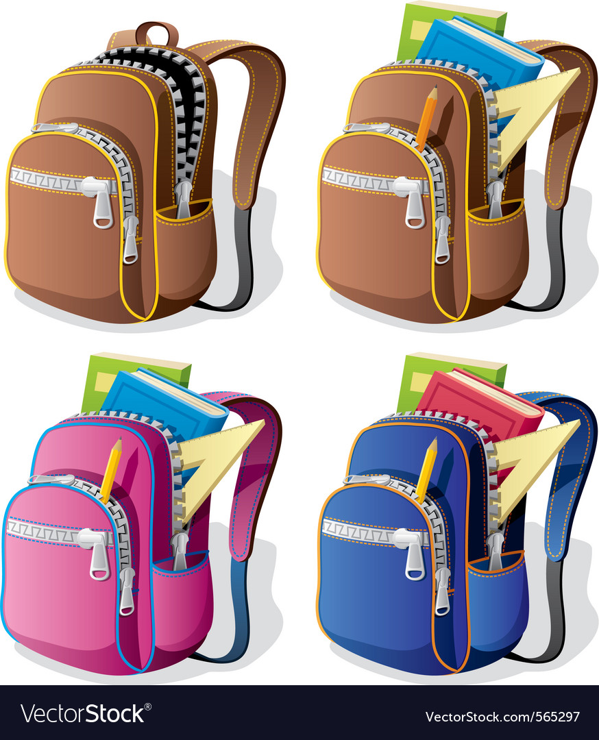 School backpack vector