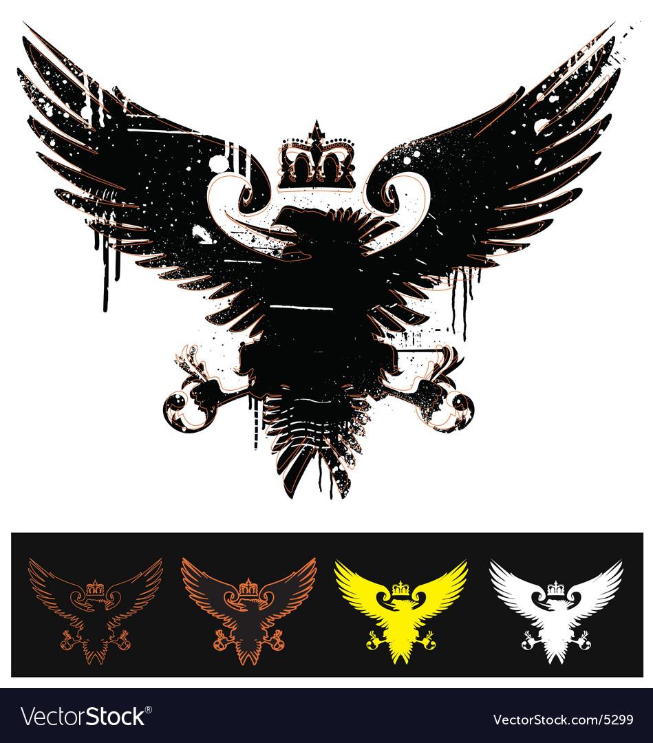 Free heraldry eagle  vector