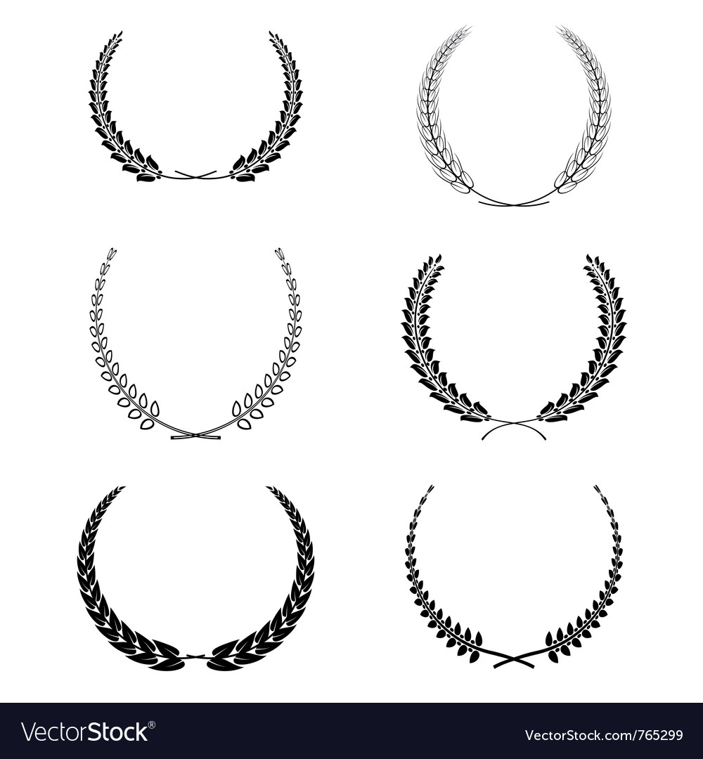 Set of garlands vector