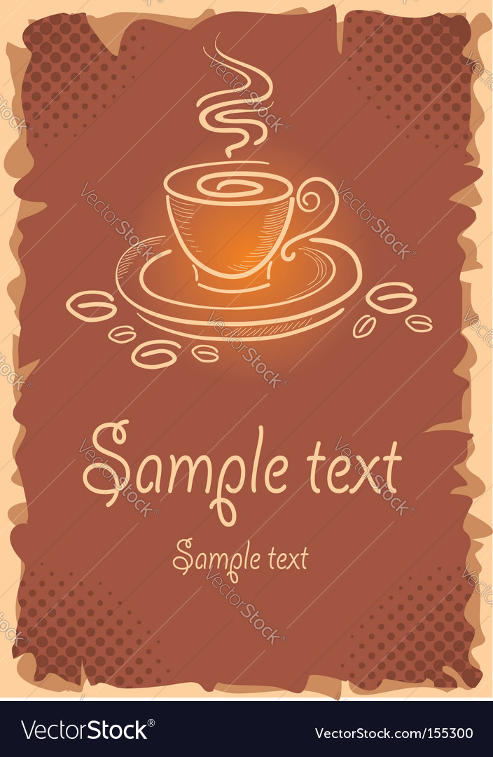 Background with art coffee cup vector