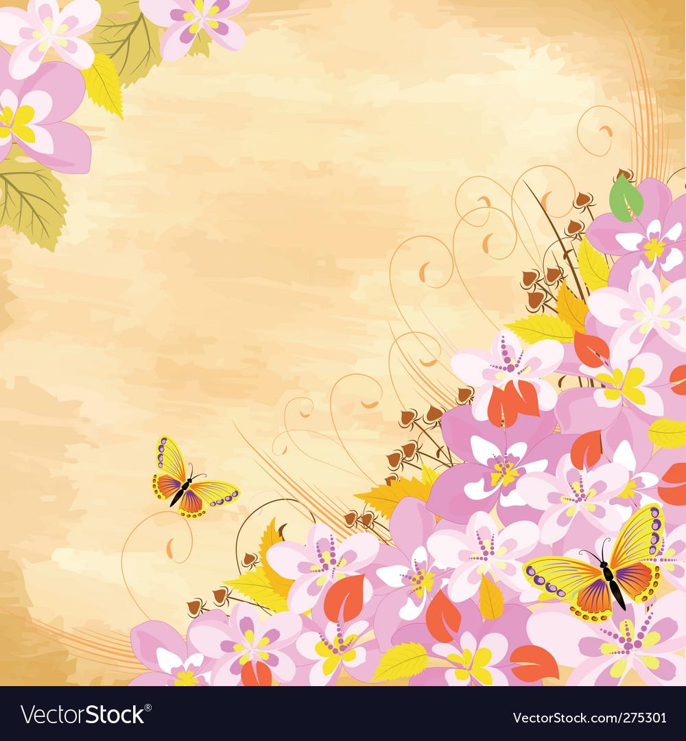 Cherry flower corner vector