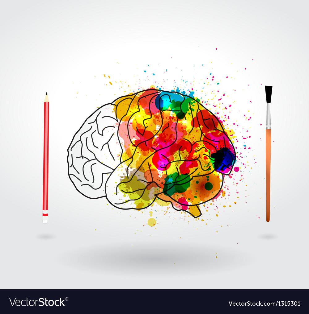 Creativity brain vector