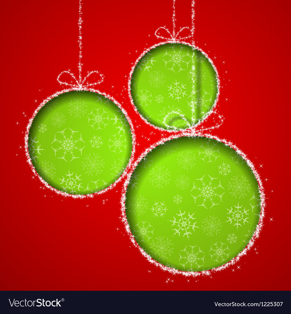 Abstract xmas greeting card vector