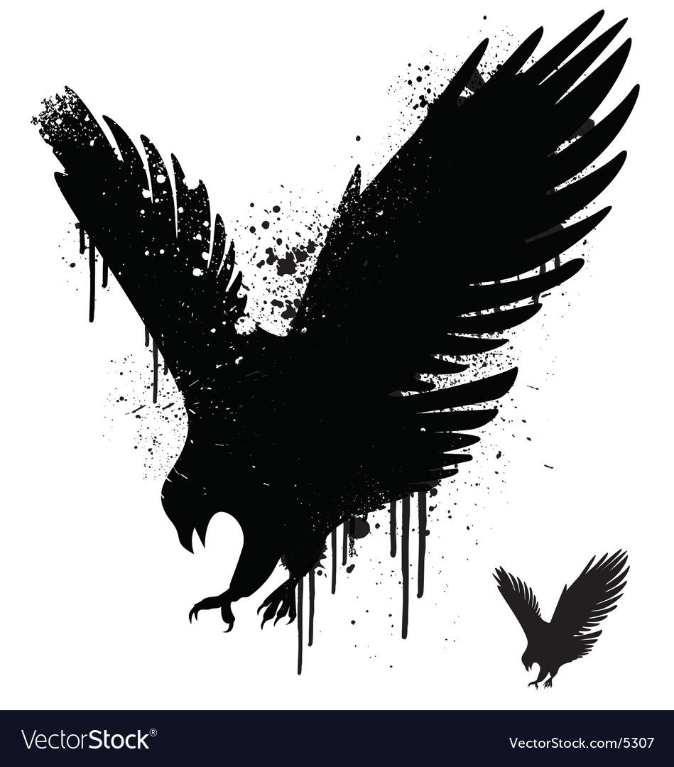 Free stencil hawk vector