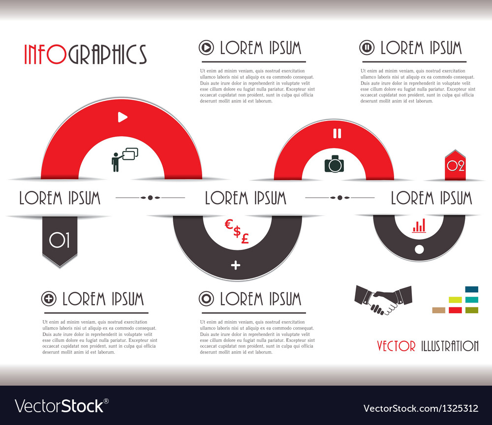 Business communication infographics vector