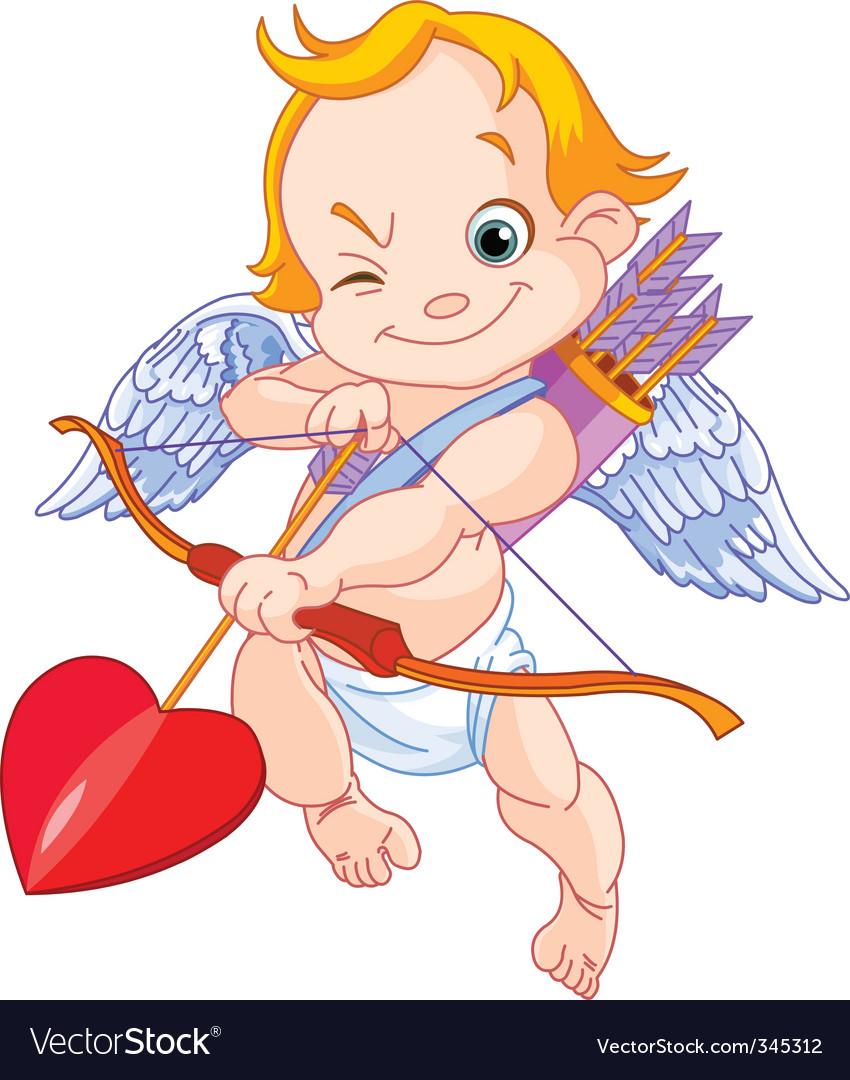 Valentines cupid vector