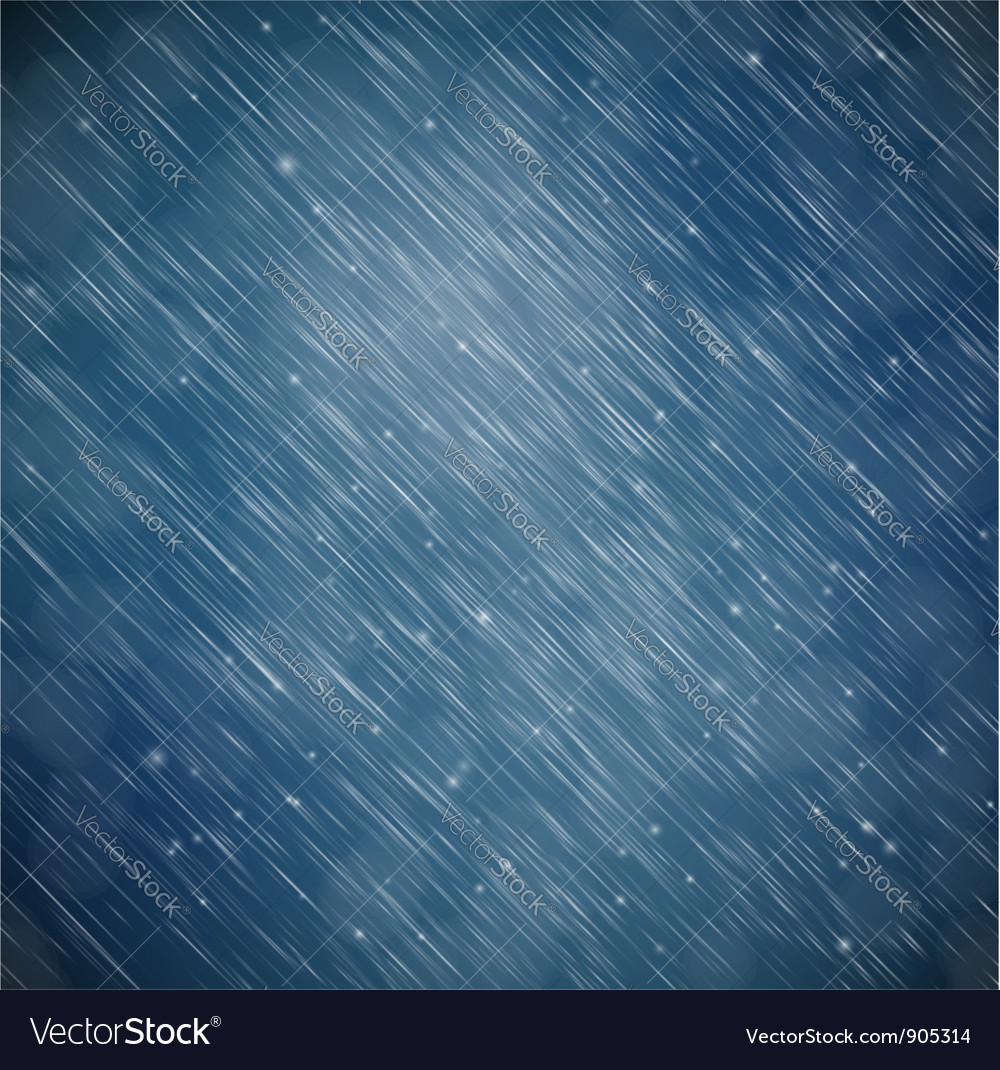 Background with rain vector