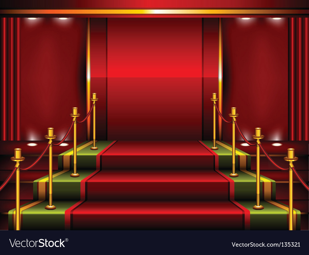 Red pedestal vector