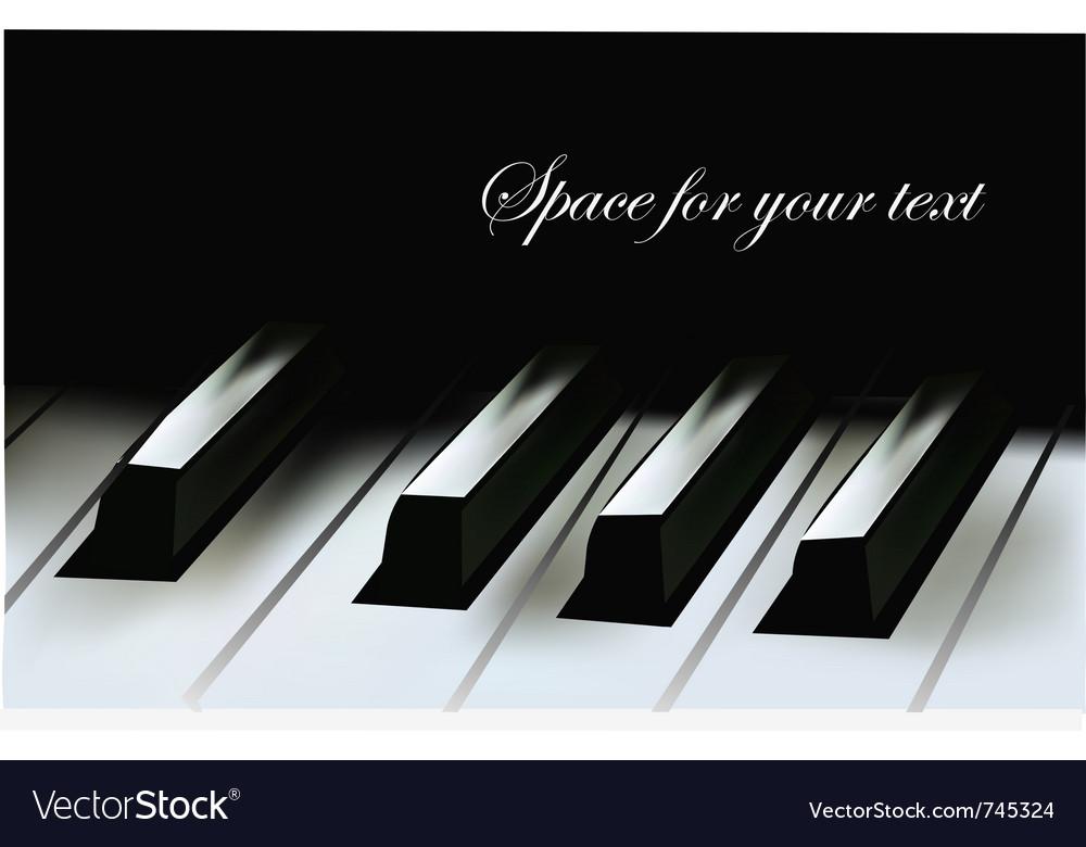 Realistic piano keys vector