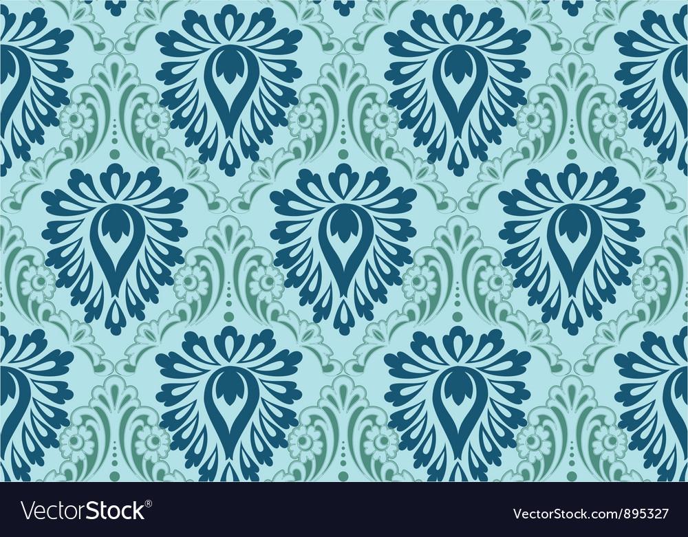 Vintage floral baroque pattern vector